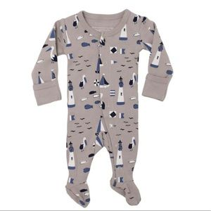 NEW! L'ovedbaby Organic Cotton Footie in Sail Grey